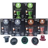 120 Cápsulas Nespresso Surtido Compatibles con Máquinas Nespresso - 40 Extra Intense, 40 Ristretto , 40 Arabica