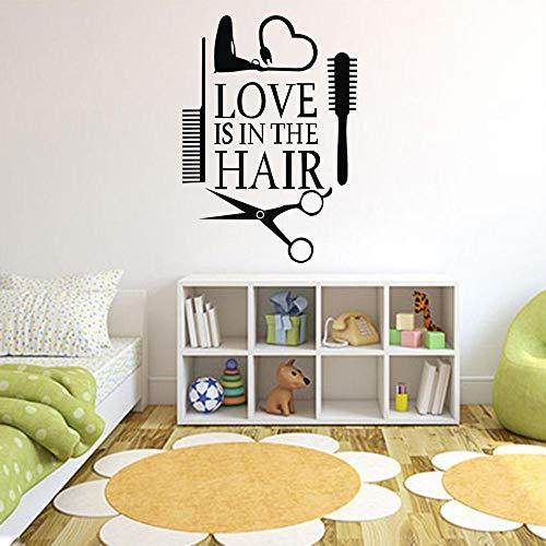 cooldeerydm 2019 Liefde Haar Stylist Sticker Decal Dryer Schaar Salon Logo Venster Motorfiets Vrachtwagen Bumper Deur Vinyl Applique Haardroger O27