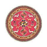 WPYU Alfombra Redonda Bohemia Sala de Estar Dormitorio Redonda Alfombra Marruecos Alfombra Colgante Canasta Giratorio Silla Cojín (Color : C, tamaño : 80cm*08cm)