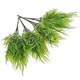 NOLITOY Plantas artificiales de color verde para decoración de peces, 4 unidades, plantas artificiales verdes, plantas artificiales para el hogar, oficina, jardín, pecera