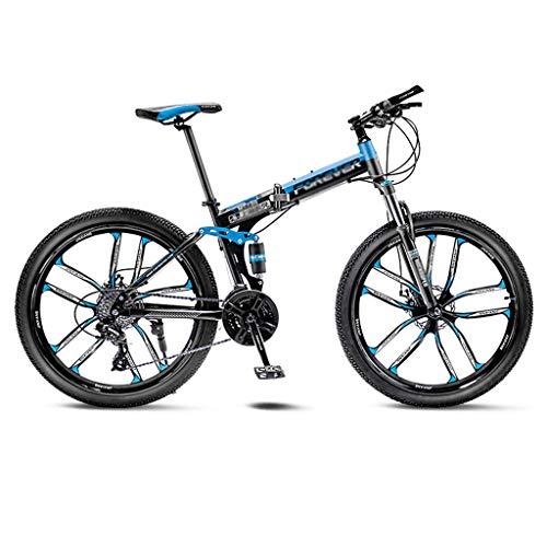 WJJ Bicicleta para Joven Bicicletas De Carretera Camino de la montaña de la Bicicleta Plegable de los Hombres de MTB 21 Velocidad 24/26 Pulgadas Ruedas for Mujeres Adultas Bicicleta Montaña