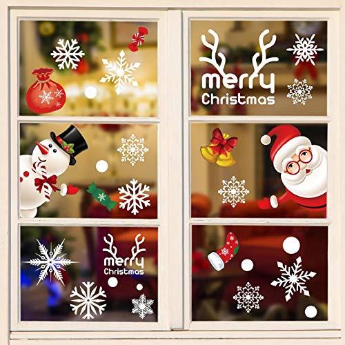 Natale Adesivi Display Rimovibile Natale Addobbi Murali Fai Da Te Finestra Decorazione Vetrina Adesivi E Murali Da Parete Sticker Decorativi Babbo Natale Pupazzo Di Neve