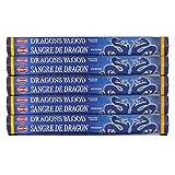 HEM Dragon's Blood Blue 100 varillas de incienso (5 paquetes de 20 varillas)