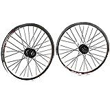 GJZhuan V-Brake Llantas Bicicleta, 20 Pulgadas 406 Plegable Delantera Bici Rueda Rueda Trasera de Bicicleta BMX de Rueda 32H 100 / 135mm 8/9 Velocidad del Cassette (Color : Wheel Set)