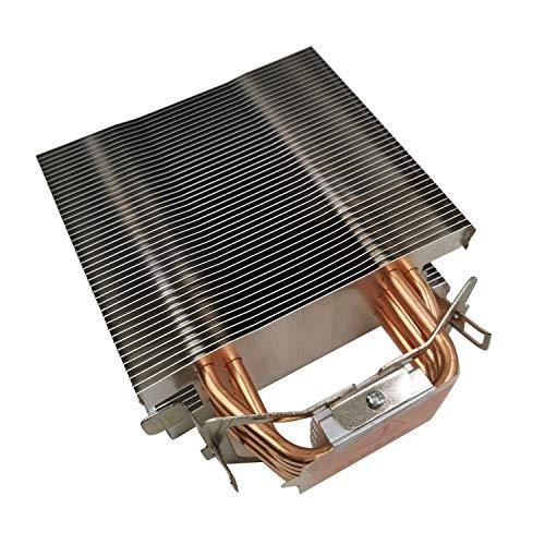 Fauge Enfriador de CPU de 12 Cm Sin Ventilador Disipador de Calor de CPU Sin Ventilador de 6 Tubos de Calor para 775/1150/1155/1156/1366 para Todos