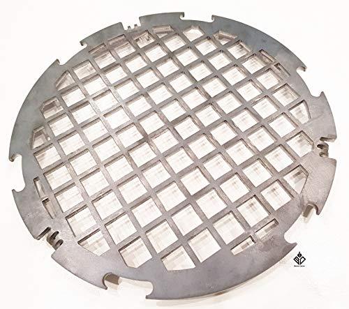 Becker Design Branding Grillrost 6mm für Feuerplatte | Plancha | Grillplatte mit 30cm Feuerloch