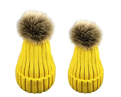 babao ouder kind Moeder familie houden warm hoed hoofd pet