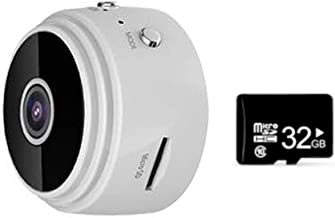 Sazoley Mini WiFi Camera Outdoor Portable Metal Cameras Light Weight Night-Vision 1080P Loop Recording Cam with Holder