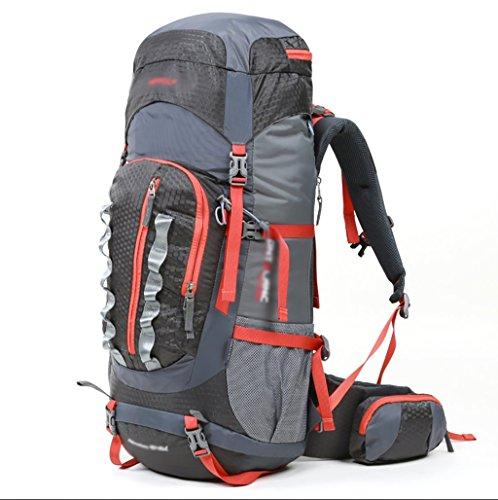 sac à dos randonnée alpinisme extérieur Voyage sac à dos hommes et femmes sac à bandoulière paquets randonnée imperméable à l'eau de voyage de camping 45l + 10L Sacs à dos de randonnée ( Couleur : Gris , taille : 45+10L )