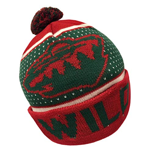 Forever Collectibles NHL Minnesota Wild Big Logo Knit Light Up Beanie Hat