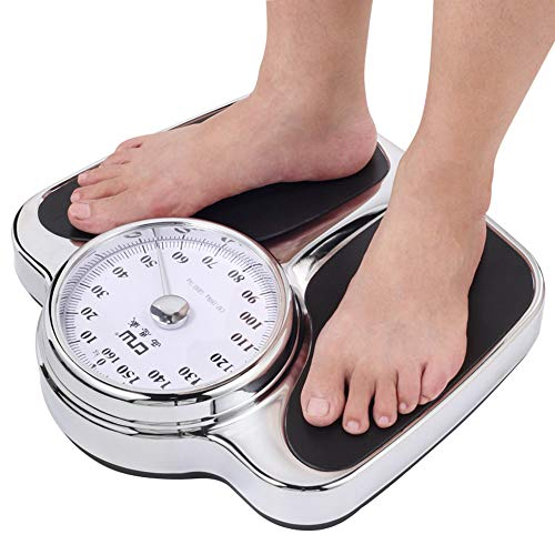 Best Deals! Professional Mechanical Scales, The Highest Load is 160kg/350lb Precision Pointer Weight Scale, Accurate indexing Value 1kg/2lb Large dial Health Scale Bathroom