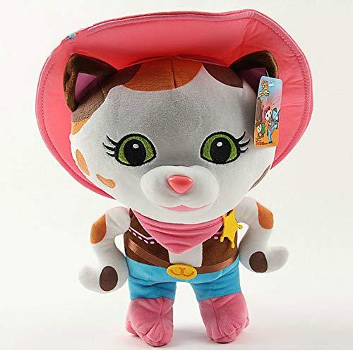 shenlanyu Juguete de Peluche 25cm Sheriff Callie Plush Movie Sheriff Callie's Wild West Cowboy Callie Cat Plush Toys Doll Soft Stuffed Animals Toys for Kids
