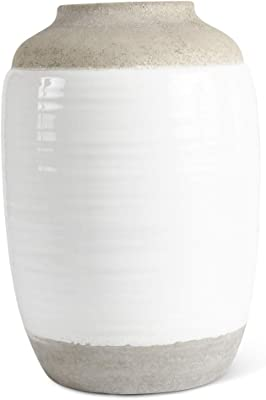 "10.25/"" Sagebrook Home Decorative Ceramic Vase Yellow//Orange 12943-02"