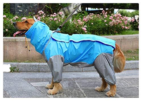 3°Amy Impermeable para Perros Perros Chubasqueros Ropa de Perro Grande Impermeable Impermeable Perro Ropa de Perro Poncho Poncho Ropa for Mascotas Abrigo con Capucha Poncho Pet Impermeable