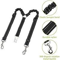 Lukovee - Cinturón de seguridad para perro, doble cinturón de seguridad para mascota