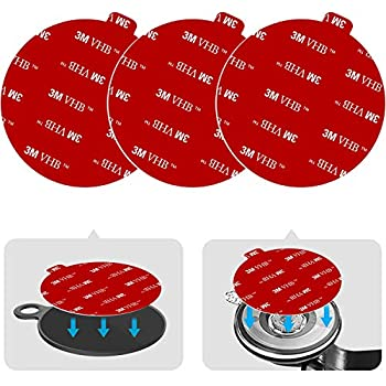 Dashboard Pad Mounting Disk Sticky Adhesive Replacement Kit PKYAA 3pcs 2.76  70mm  Circle Heat Resistant Double-Sided Stickers for Suction Cup Car Phone Holder Disc & Windshield Dash Cam