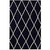 ASMA Tapis de Salon Shaggy Berbere - 100% Polypropylene - 160x230 cm - Noir