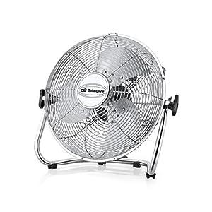 Orbegozo PW 1332 Ventilador industrial Power Fan, 3 velocidadesaspas metálicas, inclinación regulable, asa de transporte, rejilla de seguridad, 45 W de potencia, 50 W, Metal