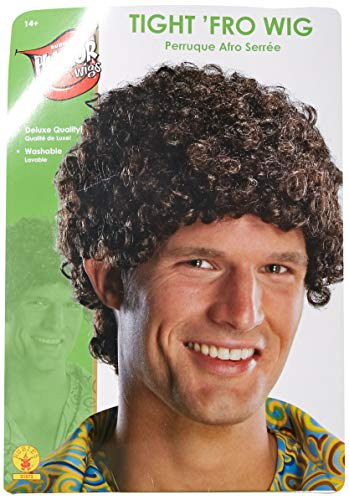 Rubie's mens Tight Fro Wig, Black Party Supplies, Multicolor, One Size US
