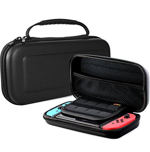 ProCase Nintendo Switch Case, hard shell spel Traveller Travel draagtas Case voor Nintendo Switch 2017 met 8 Game Cards houder zwart