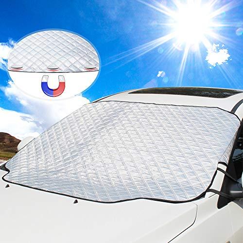Car Windshield Sun Cover, UBEGOOD Sunshade for Windshield - Blocks UV Rays, Keep Your Car Cool and Damage Free, Waterproof Sun Visor Protector, Fits All Season and Most Cars