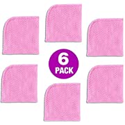 Original Safe Scrubber 6-Pack - 7X Better Over Dish Cleaning Sponges, Scrubber, Brushes, Scouring Pads for Pots, Pans, Dishes in Kitchen - Antimicrobial, No Odor, Nonscratch Material (Pink)