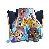 AkanaRika Bu-bble Gu-ppies Soft Micro Fleece Blanket Plush Throws Blanket for Children Kids Boys Girls for Bed Sofa Couch Chair Lightweight for All Season Gift 50'x40'