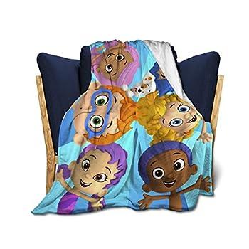 AkanaRika Bu-bble Gu-ppies Soft Micro Fleece Blanket Plush Throws Blanket for Children Kids Boys Girls for Bed Sofa Couch Chair Lightweight for All Season Gift 50 x40