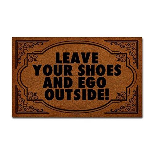 Shinewe Custom Fußmatte Blätter Ihre Schuhe und eGo Außen Innen/Außen Fußmatte Wohnzimmer Küche Teppiche Home Decor 45x 75cm