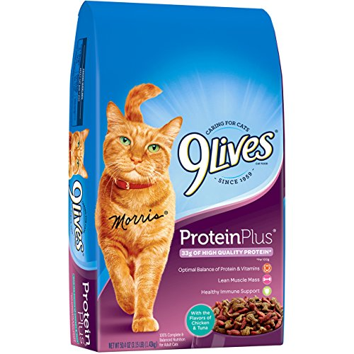 9 Lives Protein Plus Dry Cat Food, 3.15 Lb