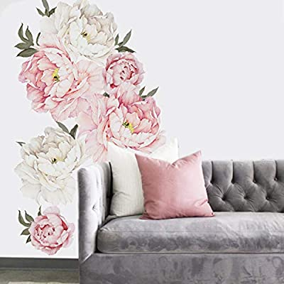 Amazon - Save 51%: Holly LifePro Peony Flowers Wall Decals Peel and Stick Rose Wall Sticker for Ho…