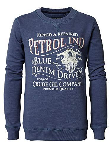 Petrol Industries - Jongens Pullover Jersey Sweatshirt lange mouwen met opdruk, blauw - B-PS19-SWR380
