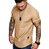 Fashion Mens T Shirt Muscle Gym Workout Athletic Shirt...