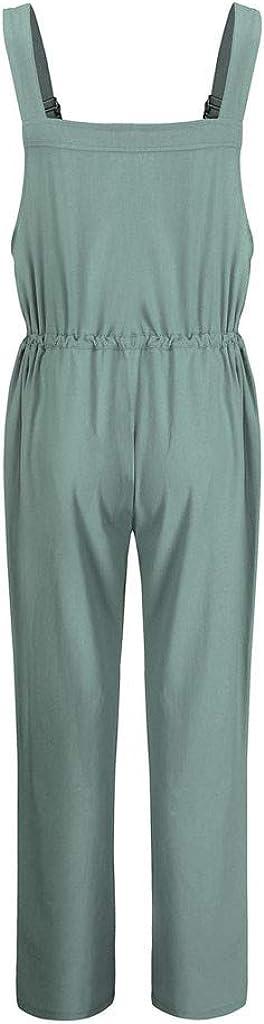 Womens Denim Bib Pants Solid Casual Long Rompers Bib Pants Jumpsuits Womens Baggy Dungarees Long Playsuit Plus Size Pants//Dress Rompers UK Size 6-26