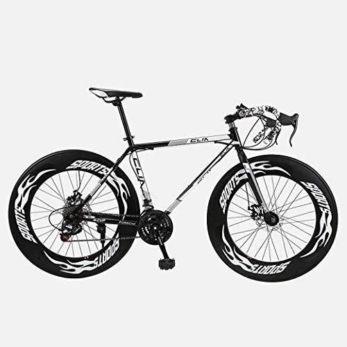 Bicicleta de carretera, bicicletas de 26 pulgadas y 27 velocidades, freno de disco doble, marco de acero con alto contenido de carbono, carreras de bicicletas de carretera, bicicletas de carretera pa