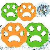 WELLXUNK® Depiladora de Mascotas, Atrapa Pelos Lavadora, Quitapelos Mascotas, Filtros de Pelusa de Reutilizables para Pelo de Perro, Piel de Gato y Todas Las Mascotas (4 Piezas)