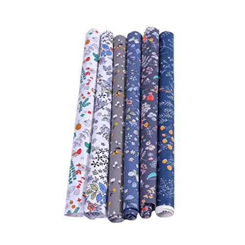 SUPVOX 6 Piezas de Tela de Acolchado de Algodón Floral Patchwork Diy Patrón de Flores de Tela Edredón Cuadrados para Diy Artesanía Costura Acolchado Scrapbooking
