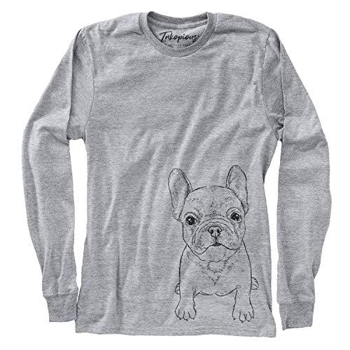 Bare PuppyPierre The French Bulldog Women's Long Sleeve T-Shirt 2XL Grey