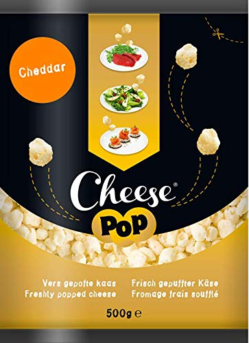 Cheesepop White Cheddar (1x bag 500g) - crunchy cheese snack - ambient dairy snack - 100% cheese ...surprisingly crunchy! (clean label - all natural - vegetarian - no carbs - keto - high in protein - source of calcium - gluten free - no preservatives - no coloring - long shelf life - both ambient and chilled)