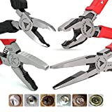 VamPLIERS World's Best Pliers! Screw Extraction Pliers Best Holiday Corporate Gift Makes the Best Gift. (5'Mini, 6.25', 7.5' Long Nose, 8' PRO VamPLIERS)