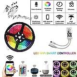 YUHT 5M 10M 15M RGB LED Strip Impermeable Led Neon Light 5050 DC12V 30Leds / M Flexible Lighting Ribbon Tape Controller Controller Set RGB_5M LED Strip