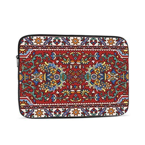 Computer Cover Colorful Mosaic Oriental Rug Traditional Folk MacBook Case 12 Inch Multi-Color & Size Choices 10/12/13/15/17 Inch Computer Tablet Briefcase Carrying Bag