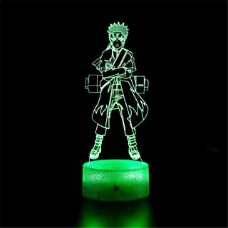 3D Illusion Lamp 3D Night Light Naruto Touch Table Desk Lamp for Kids Bedroom, USB Charger Pretty Cool Gifts for Birthday ...