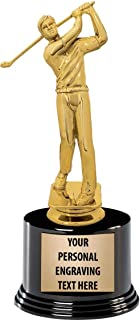 Crown Awards Golf Trophies with Custom Engraving, 7.25
