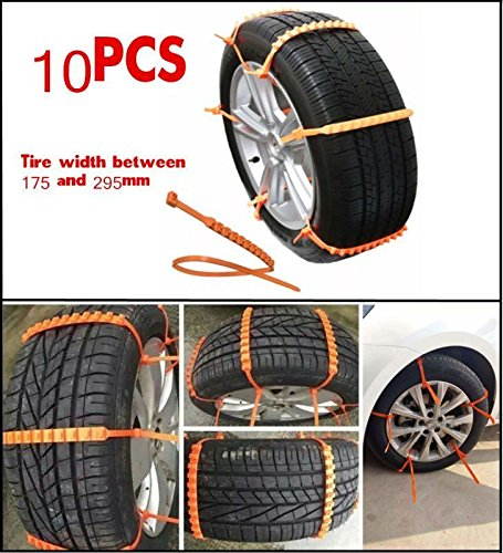 10Pcs Universal Car Truck Snow Wheel Tire Anti-skid Chains Slip Thickened Tendon