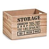 Zeller 15123–Caja de almacenaje Storage, MDF/Madera, Natural, 33x 23x...