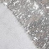 Paillettenstoff von The Yard Weiß bis Silber Farbwechsel