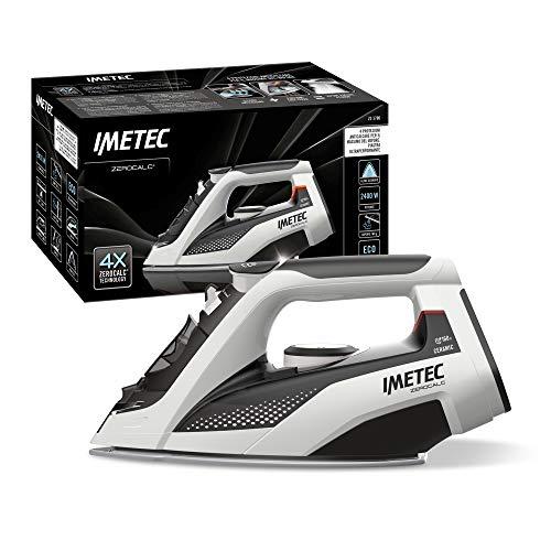 Imetec Zerocalc - Planchacon tecnología antical, Placa de cerámica de alta fluidez, 2400W, golpe Vapor 160G, dispositivo antigoteo tecnología Bajo consumo