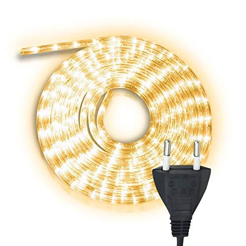 Hengda 20m LED Lichtschlauch Warmweiß, Wasserdicht Lichterkette Strombetrieben, 480 LEDs Lichterschlauch, für Dekoration, Party, Garten, Hochzeit