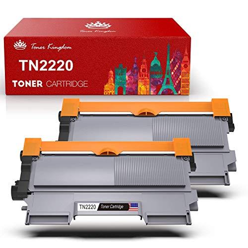 TonerKingdom Kompatible TN2220 TN2010 Tonerkartusche in Schwarz, 2600 Seiten, Ersatzdruckertoner für Brother HL-2130 HL-2250DN DCP-7055 DCP-7055W HL-2220 HL-2132 HL-2230 HL-2240 (2er-Pack)